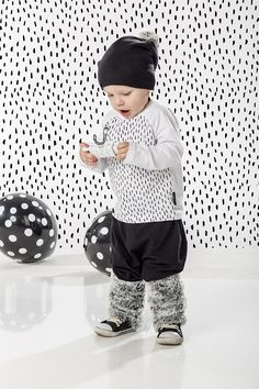 Children's Accessories – Beanie Snow Fur Pompon – a unique product by ThatWay via en.DaWanda.com