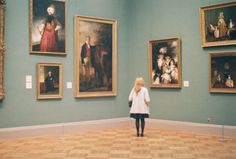 Art museums are my favorite. I love to wander around in them all day or sit on a bench and study a painting.