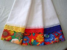 I like to colors of the lace matching the border! That makes them fun and cherie