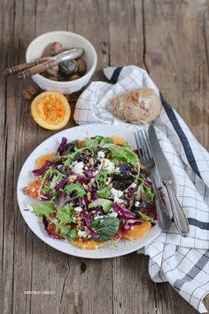 Wintersalat + selbstgebackene Brötchen