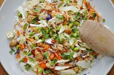 The Art of Comfort Baking: Asian Chopped Chicken Salad with Peanut Dressing