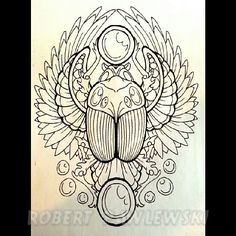 scarab beetle tattoos   ... tattoo # tattoos # illustration # linework # egyptian # egypt # scarab