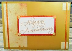 Gold Anniversary handmade card FWB by RogueKissedCraft on Etsy Happy Anniversary, Anniversary Cards, Romantic Cards, Etsy Store, Greeting Cards, Awesome, Unique Jewelry, Handmade Gifts, Gold