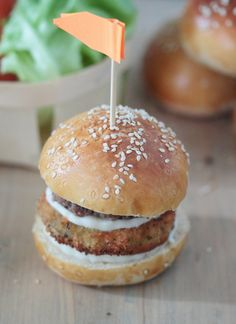 Délices d'Orient: Hamburgers aux beignets d'aubergine