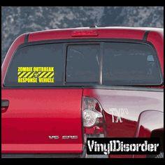 Zombie Response Vehicle 01 Vinyl Decal Car or Wall Sticker Mural Vinyl Disorder