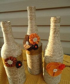 Fall Holiday DIY with Wine Bottles