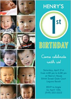 Page Not Found First Birthday Invitation CardsBaby Boy 1st