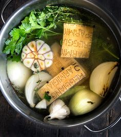 Wild Greens and Sardines : Parmesan Brodo