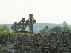 Celtic crosses in 600 y/o cemetary