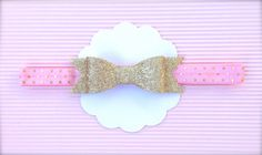 Pink and Gold Baby Headband   Pink and Gold Birthday   Pink and Gold Headband   Gold Baby Headband   Gold Bow Baby Headband   Pink and Gold