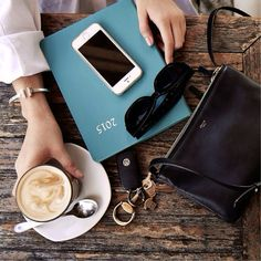 coffee + celine bag.