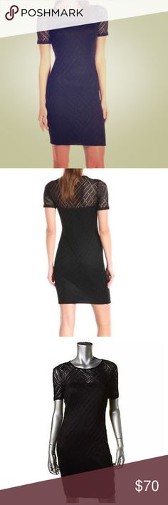 Three Dots Black Lace Knee Length Dress Size S Three Dots Angelina Black Knit Short Sleeves Casual Dress S  Manufacturer: Three Dots  Size: S  Size Origin: US  Manufacturer Color: Black  Retail: $158.00  Condition: New with tags  Sleeve Length: Short Sleeve  Closure: Pullover  Dress Length: Knee-Length  Total Length: 35 Inches  Bust Across: 14 Inches  Waist Across: 13 Inches  Hips Across: Inches  Material: Viscose/Spandex/Nylon  Fabric Type: Knit  Size (Women's): M  Lined  Sleeve Style…