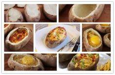 Sunrise Egg Stuffed Baked Potatoes Sunrise Egg Stuffed Baked Potatoes by diyforever