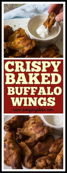 Easy Crispy Baked Buffalo Chicken Wings are so delicious.Coated with flour and seasonings make this wings crispy then baked for a healthier option