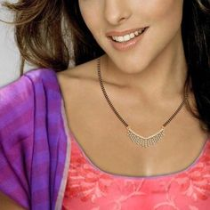 Buy Diamond Mangalsutra Online In India | Latest Design | Certified Jewellery | Candere.com
