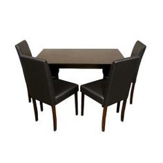 Warehouse Of Tiffany Five Piece Brown Faux Leather Dining Furniture Set By  Warehouse Of Tiffany