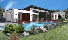 cette maison prsente une architecture rsolument moderne mariant des toitures monopentes des grandes baies vitres