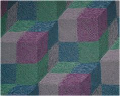 3d illusion afghan block pattern   The size of the afghan will depend on the yarns chosen. You could ...