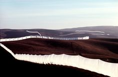 Christo and Jeanne-Claude:   Running Fence  Sonoma and Marin Counties, California, 1972-76