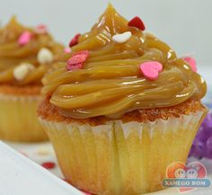 Receitas - Cupcake de Doce de Leite | Xamego Bom
