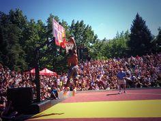 Twitter / SpokaneHoopfest: Dunkin at @Nike center court ...