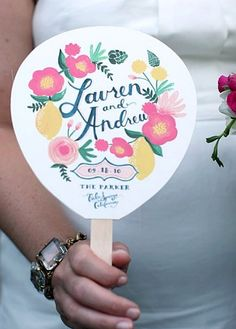 Program FANS for summer/outdoor wedding. Like the idea!