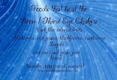 Brow/Third Eye Chakra - Foods that Heal - Pinned by The Mystic's Emporium on Etsy