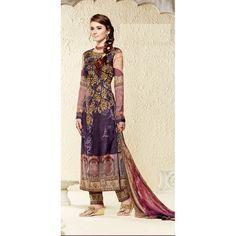 Designer Unstitched Multi Color Cotton Silk Digital Printed Party Wear Salwaar Kameez-2908 ( HSF-CT-247 )Karishma