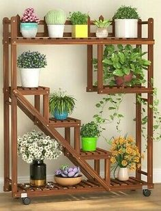 Find many great new & used options and get the best deals for Wooden Plant Stand Multi Tier Indoor Outdoor Ladder Storage Shelf Garden Planter at the best online prices at eBay! Free shipping for many products! Plant Shelves Outdoor, Wooden Plant Stands Indoor, Wood Plant Stand, Wooden Planters, Outdoor Plant Stands, Tiered Plant Stand Indoor, Plant Ladder, Garden Plant Stand, House Plants Decor