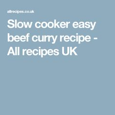 Slow cooker balti lamb curry recipe - All recipes UK Easy Beef Curry Recipe, Irish Beef Stew Recipe, Stewing Steak, Large Slow Cooker, Lamb Curry, Uk Recipes, Curry Spices, Slow Cooker Recipes, Curries