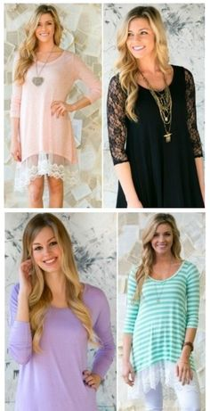 LACE AND CROCHET TUNIC SALE! 9 STYLES!, fashion for spring and summer, tween, teen or mom trendy style deals