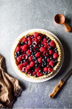 Flourishing Foodie: Fresh Berry Tart with Lemon Curd