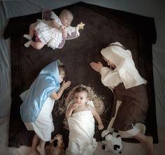 cute baby nativity scene