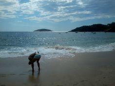 Amigo padre e hija, Praia Joao Fernández, Buzios