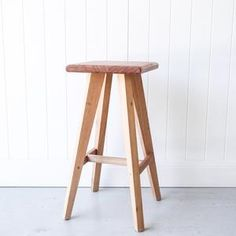 Modern Australian Wooden Stool Made in Noosa Australia from Tasmanian Oak