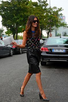 Leila Yavari, Paris_Street Style by Stela