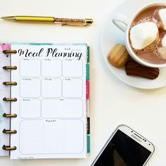 This meal planning insert for your Mini Happy Planner will help you plan your meals for the week. Available in many other sizes too!