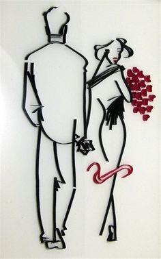 "Quilled artwork ""Promenade"", by NBeltrani"