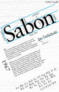 Sabon Serif Garalde 1964 Jan Tschichold Poster by Gabrielle Caudill