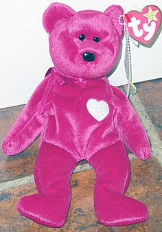 Ty Valentina Magenta Red Bear with White Heart Beanie (Ty Beanie Babies) at  Donna s Korner Kollectibles 84cc6a80909c