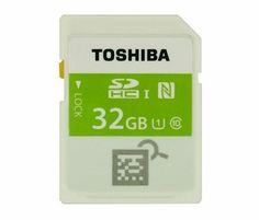 nice Toshiba propose une carte mémoire SDHC équipée de NFC.