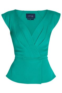 Deep V neck Top By SAFIYAA @ http://www.boutique1.com/