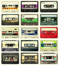 Cassettes...how I listened to my music. I would record songs from the radio.