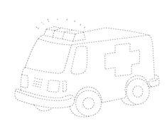 Transportation trace worksheet   Crafts and Worksheets for Preschool,Toddler and Kindergarten