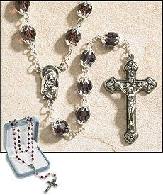 June (Light Amethyst) Double Capped Birthstone Rosary | My Brother's Keeper Catholic Gift Shop / www.MBKCatholicGifts.com