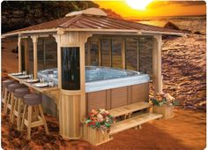Got the hot tub...wonder if I could talk the hubby into the rest! Oh, but I would def want the top to be removable and automatic of course :-)
