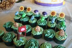 Plants vs Zombies Cupcakes!