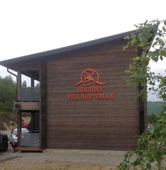 Wall logo orange, laser cut 5 mm aluminium. Wall Logo, Garage Doors, Outdoor Decor, Holiday, Orange, Signs, Home Decor, Vacations, Decoration Home