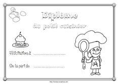 Diplome cuisinier Tot School, Babysitting, Crafts For Kids, Preschool, Animation, Activities, Centre, Recherche Google, Nutrition