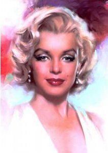 @PinFantasy - Marilyn Monroe portrait - artist unknown ~~ For more: - ✯ http://www.pinterest.com/PinFantasy/gente-~-marilyn-monroe-art/